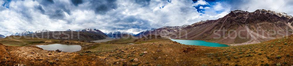 lake Chandra Taal, Spiti Valley panorama Stock photo © cookelma