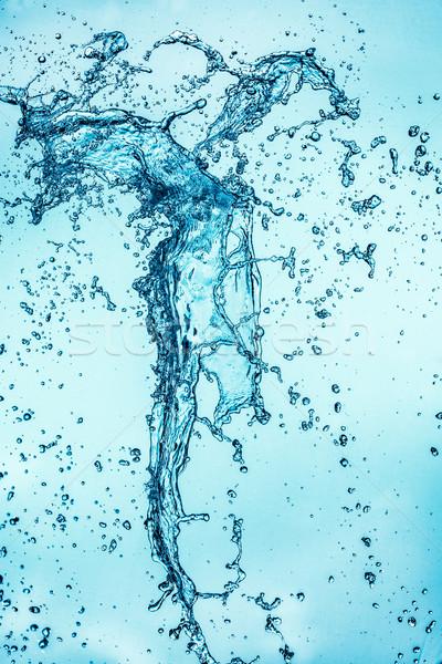 Soyut mavi doku dizayn arka plan Stok fotoğraf © cookelma
