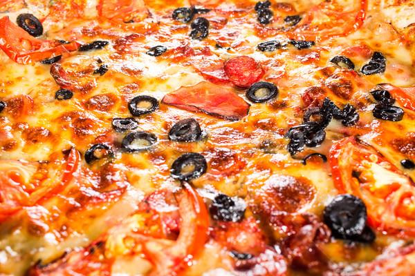 Stock fotó: Pepperoni · pizza · étvágygerjesztő · közelkép · tömés · keret
