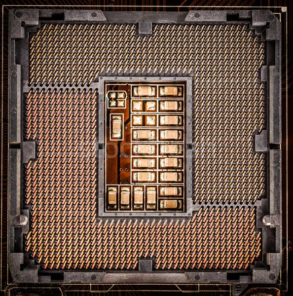 現代 マザーボード ソケット ホーム コンピュータ ビジネス ストックフォト © cookelma