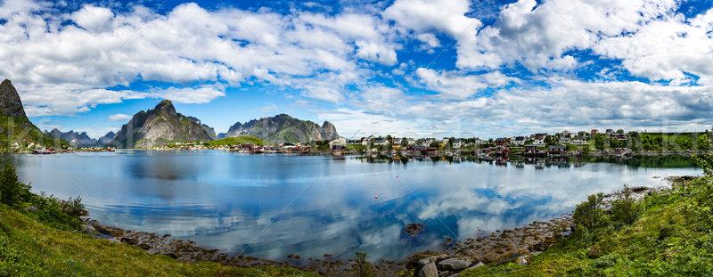 Panorama Lofoten archipelago islands Stock photo © cookelma