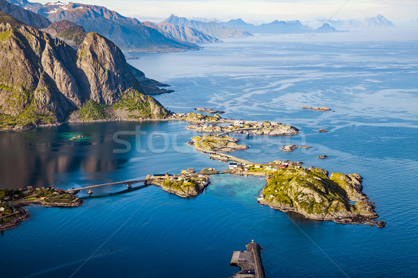 Lofoten is an archipelago in the county of Nordland, Norway. Stock photo © cookelma