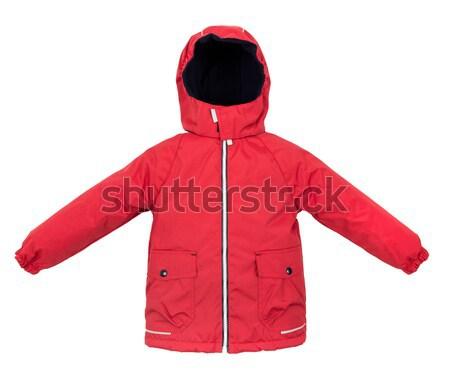 女性 冬 ジャケット 孤立した 白 女性 ストックフォト © cookelma
