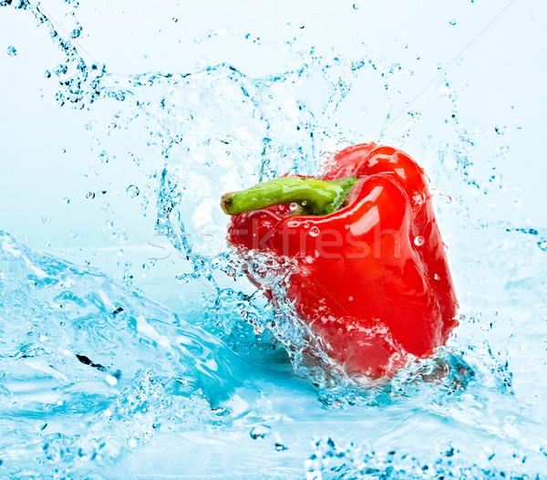 Stock fotó: Bors · víz · édesvíz · csobbanás · paprikák · kék