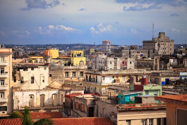 ハバナ ショット 古い 市 キューバ 風景 ストックフォト © cookelma