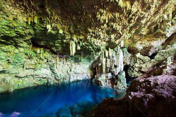 Caverna subterrâneo lago ilha Cuba água Foto stock © cookelma