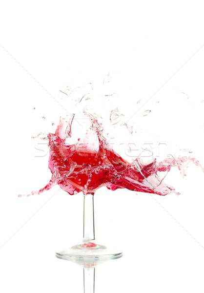 Foto stock: Roto · vidrios · rotos · vino · blanco · fiesta · beber
