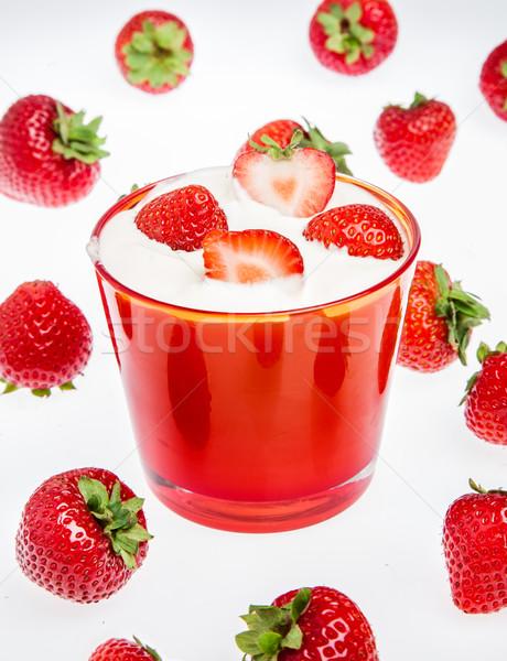 イチゴ クリーム 白 フルーツ ミルク デザート ストックフォト © cookelma