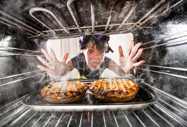 Funny chef perplexed and angry. Loser is destiny! Stock photo © cookelma
