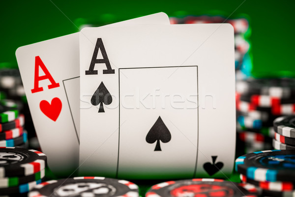 chips and two aces Stock photo © cookelma