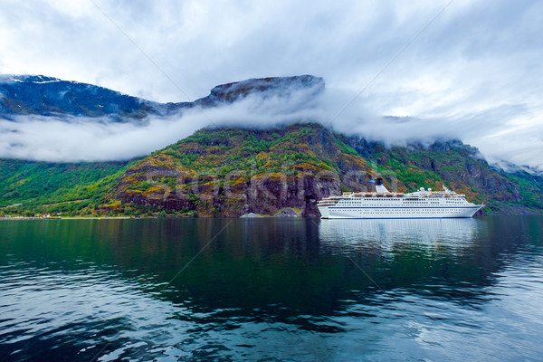 Cruise Liners On Hardanger fjorden Stock photo © cookelma
