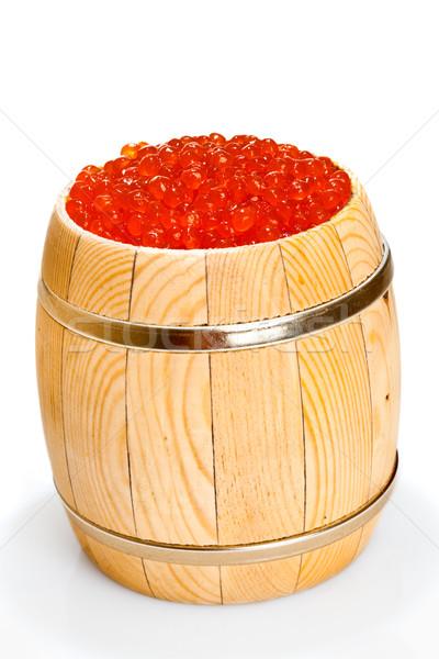 Rouge caviar faible baril blanche Photo stock © cookelma