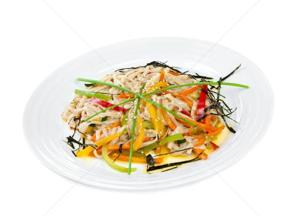 Iştah açıcı makarna yalıtılmış beyaz makarna Asya Stok fotoğraf © cookelma
