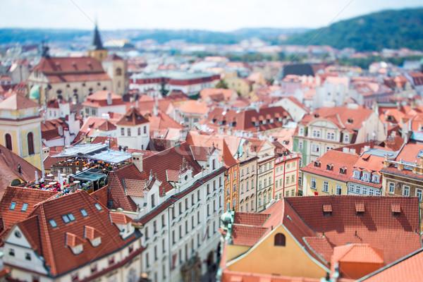 プラハ シフト レンズ 表示 市 ストックフォト © cookelma