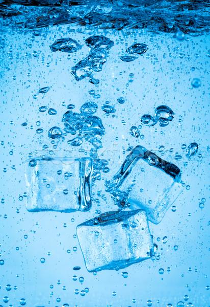 アイスキューブ 下がり 水 ボトム 抽象的な ストックフォト © cookelma