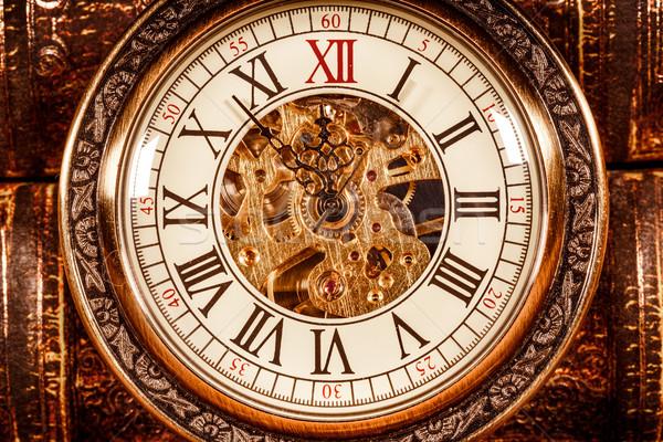 Stock photo: Close up on vintage clock