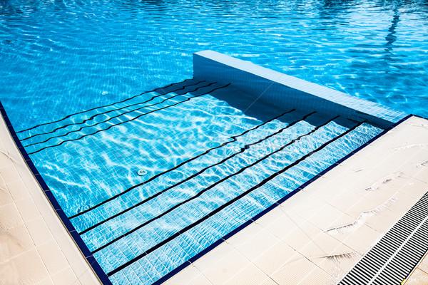 Merdiven mavi yüzme havuzu yaz otel dinlenmek Stok fotoğraf © cookelma