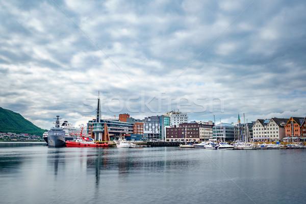 Görmek marina kuzey Norveç şehir dünya Stok fotoğraf © cookelma