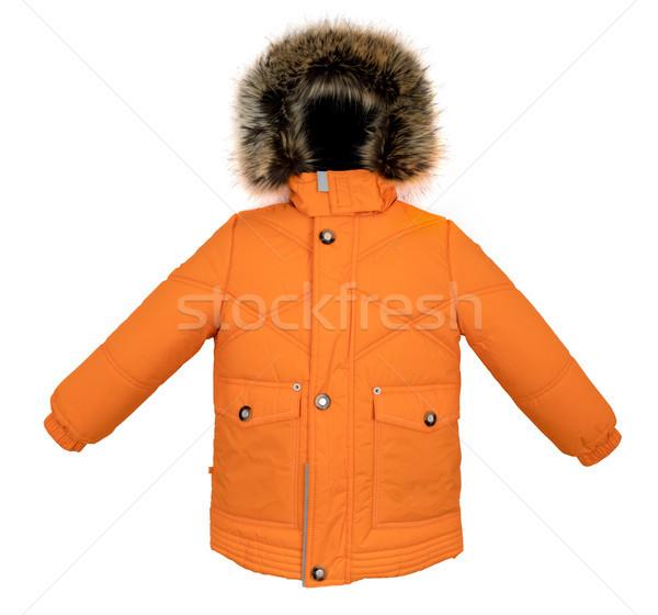 Chaud veste isolé hiver blanche enfant Photo stock © cookelma