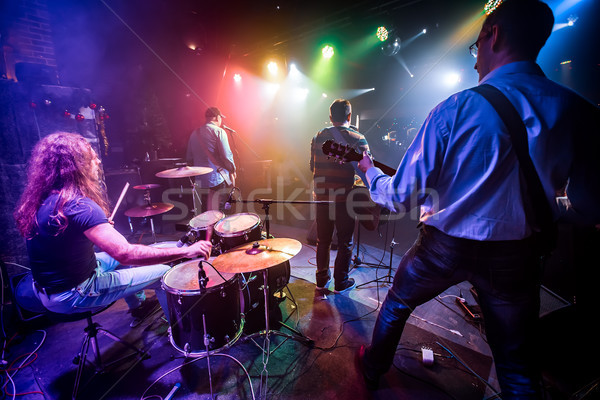 Banda etapa boate música rock concerto autêntico Foto stock © cookelma