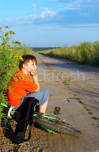 The boy on road Stock photo © cookelma
