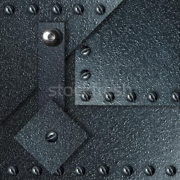 Streszczenie imponujący metal tablicy retro rdzy Zdjęcia stock © cookelma