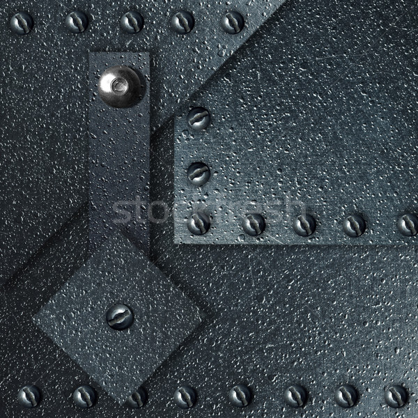 аннотация впечатляющий металл пластина ретро ржавчины Сток-фото © cookelma