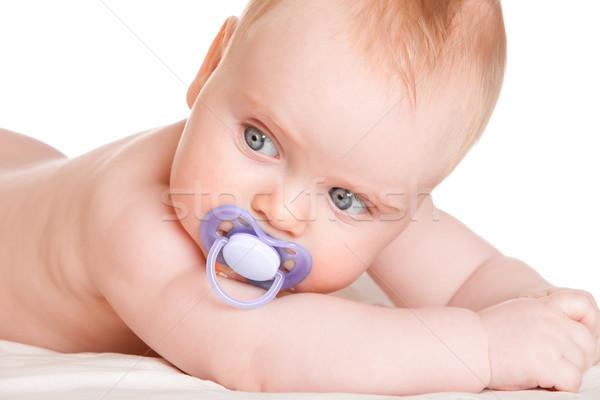 Bebek beyaz çocuk hayat çocuk kişi Stok fotoğraf © cookelma