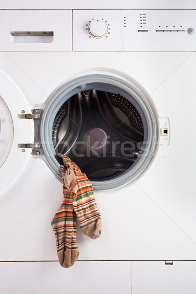 Stock fotó: Mosógép · alátét · gép · technológia · háttér · tiszta