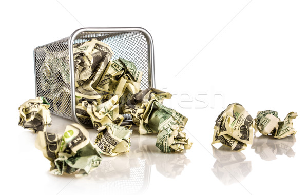 Money in a basket Stock photo © cookelma