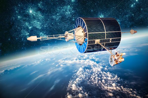 スペース 衛星 地球 地球 星 太陽 ストックフォト © cookelma
