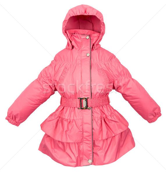 Mujeres invierno chaqueta aislado blanco mujer Foto stock © cookelma