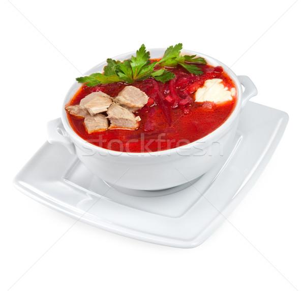 Stok fotoğraf: çorba · beyaz · akşam · yemeği · yeme · yemek · öğle · yemeği