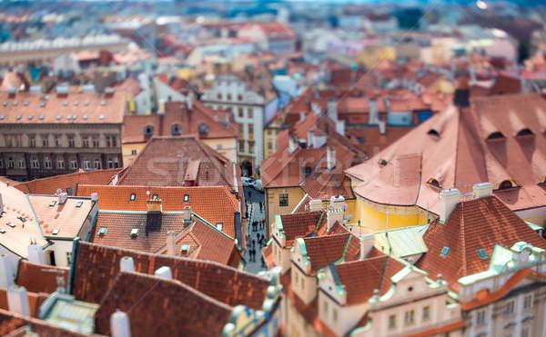 Prague - Tilt shift lens. Stock photo © cookelma