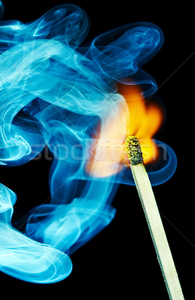 Match flame and smoke Stock photo © cookelma
