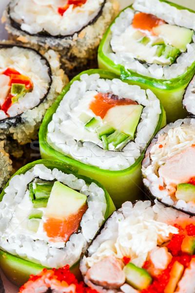 Sushi rodar sabroso alimentos peces cocina Foto stock © cookelma