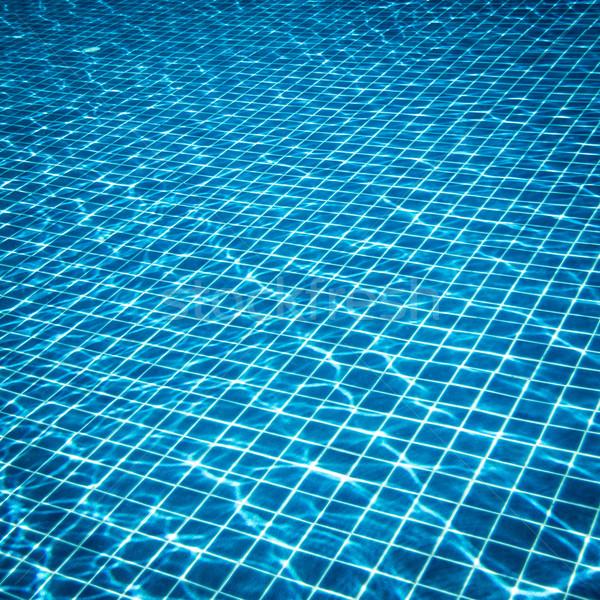 Foto acqua piscina sfondo piscina onda Foto d'archivio © cookelma