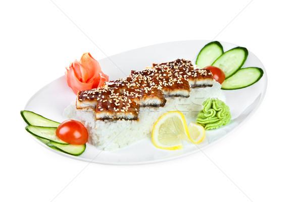 Sashimi japoński kuchnia biały ryb kuchnia Zdjęcia stock © cookelma