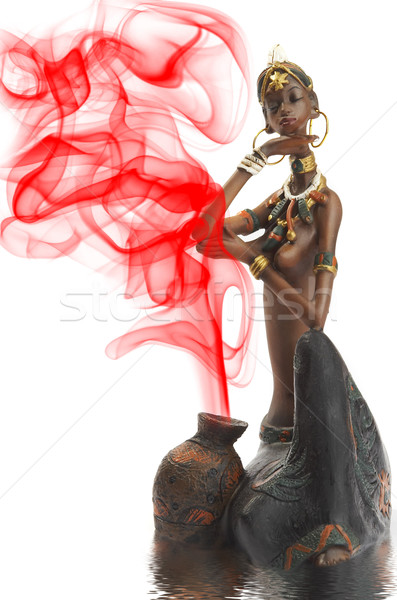 Beeldje afrikaanse meisje witte gezicht lichaam Stockfoto © cookelma