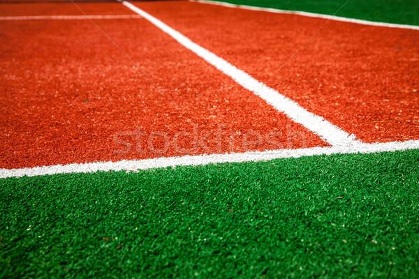 Quadra de tênis saúde fundo verão espaço Foto stock © cookelma