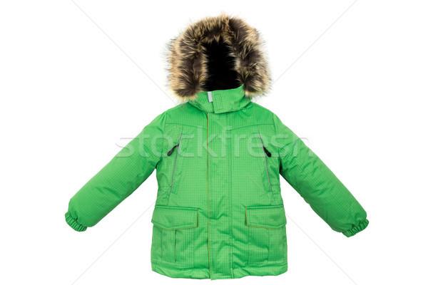 Caliente chaqueta aislado invierno blanco hombres Foto stock © cookelma