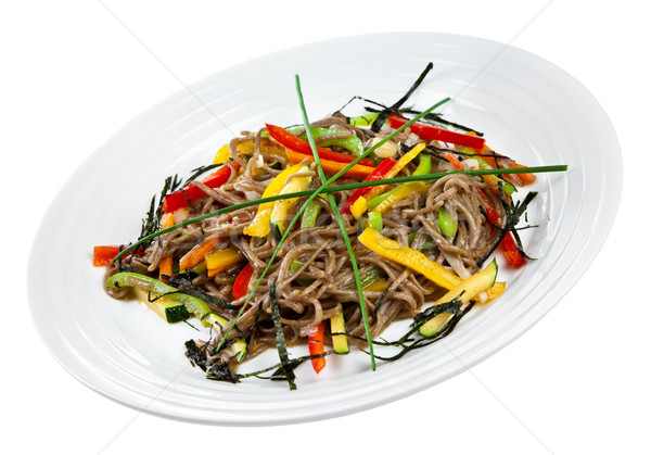 Soba with Vegetables Stock photo © cookelma