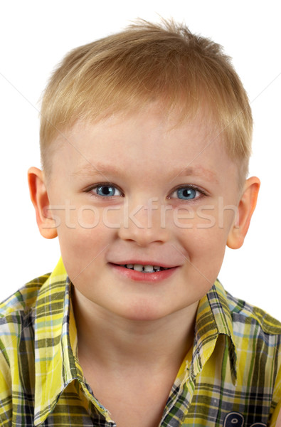 The portrait of the boy of the blonde which smiles.  Stock photo © cookelma