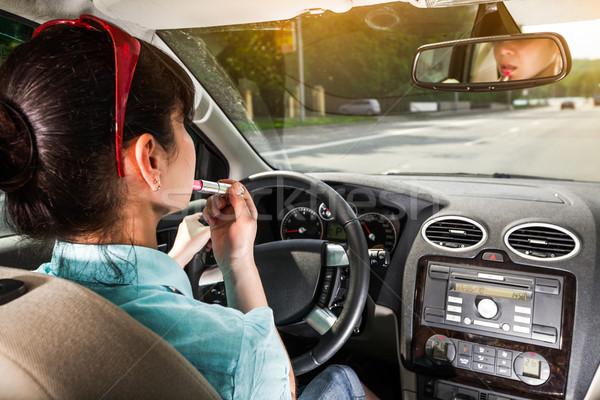 Driving a car Stock photo © cookelma