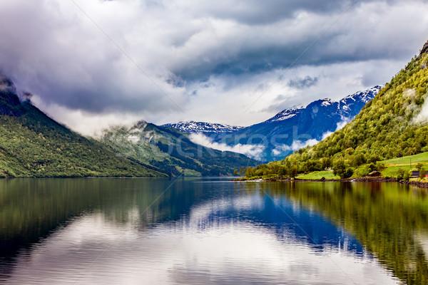 lovatnet lake Beautiful Nature Norway. Stock photo © cookelma
