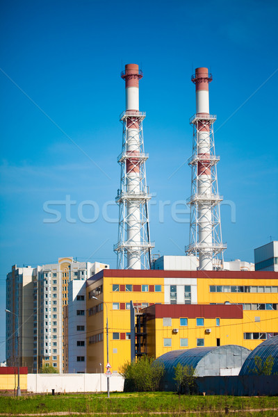 Usina construção grande eletricidade cidade tecnologia Foto stock © cookelma