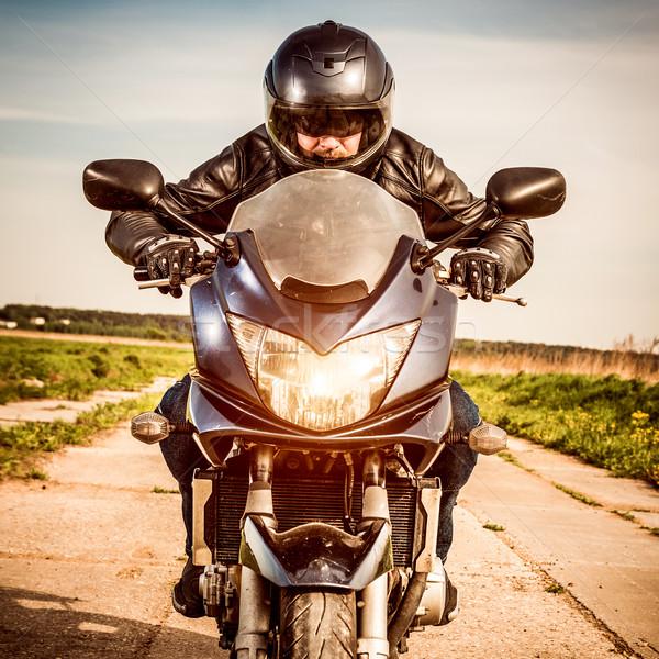 Сток-фото: Racing · дороги · шлема · небе
