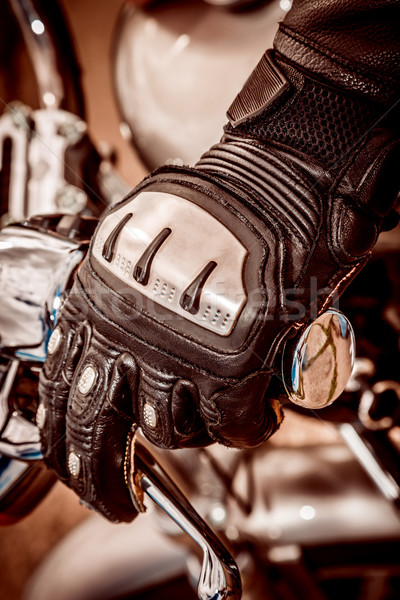 Motorcycle Racing Gloves Stock photo © cookelma