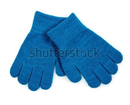 Tricoté laine bébé gants blanche fond Photo stock © cookelma