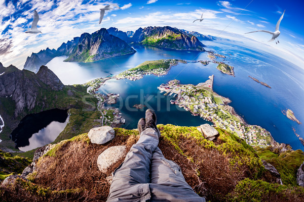 Lofoten archipelago Fisheye lens. Stock photo © cookelma